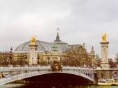 Retro look Grand Palais Paris — Stock Photo
