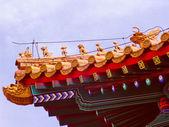 Retro look Tiananmen in Peking — Stock Photo