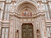 Retro look Florence Cathedral — Stock Photo