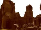 Retro look Augustus Mausoleum in Rome — Stock Photo