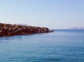 Retro-look palaia kameni in griekenland — Stockfoto