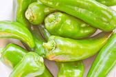 Retro look Green peppers — Stock fotografie