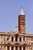 Retro look Santa Maria Maggiore in Rome — Stock Photo