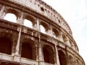 Retro se koloseum řím — Stock fotografie