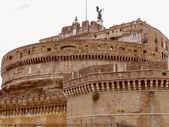 Retro look Castel Sant Angelo Rome — Stock Photo