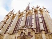 Retro look Sainte Chapelle Paris — Stock Photo