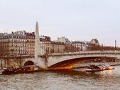 Retro look Ile St Louis Paris — Stock Photo