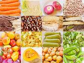 Colagem de comida de look retro — Fotografia Stock