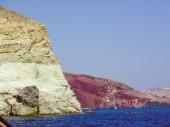 Retro look Aspri beach in Greece — Stok fotoğraf