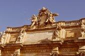 Retro look Trevi Fountain Rome — Stock Photo