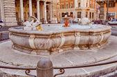 Retro look Fontana di Piazza Colonna in Rome — Stock Photo