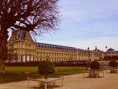 Retro look Louvre Paris — Stock Photo