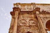 Retro look Arch of Constantine Rome — Stock Photo