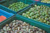 Hrušky a jablka — Stock fotografie