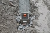 Manhole detail — Stock Photo