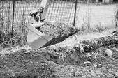 копать яму экскаватор — Стоковое фото