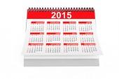 2015 rok kalendarzowy pulpitu — Zdjęcie stockowe