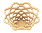 Closeup Wicker Basket — Stock Photo
