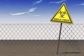 Panneau d'avertissement de Virus Ebola — Photo