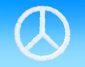 Peace Sign from clouds — Stock Photo