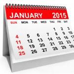 Calendar January 2015 — Stock Photo #61278235