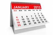 Calendar January 2015 — Stock Photo