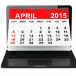 April calendar over laptop screen — Stock Photo #66055421