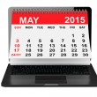 May 2015 calendar over laptop screen — Stock Photo #68812559
