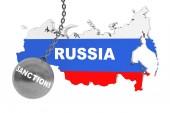Sanctions Destroy Russia Concept — ストック写真