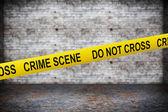Crime Scene Yellow Tape — Stock Photo