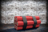 Stack of Red Dynamite — Stock Photo