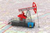 Pump Jack Oil Crane 3d rendering — Stock Photo
