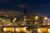Night view of the Stockholm Sweden — Stock Photo