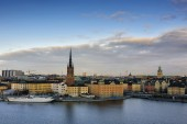 Riddarholmen, small island in central Stockholm. Sweden — Stock Photo