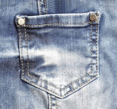 Blue jeans with pocket closeup — Stock Photo