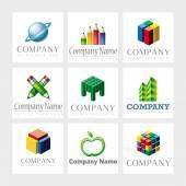 Vector de elementos de diseño de logotipo — Vector de stock