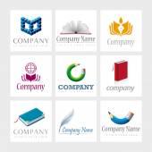 Vetor de elementos de design de logotipo — Vetor de Stock