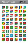 African flags — Stock Vector