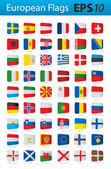European flags — Stock Vector