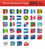 North American flags — Stock Vector