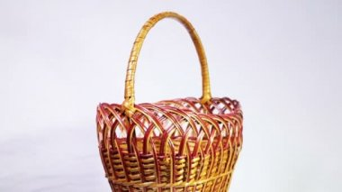 Wicker basket — Stock Video