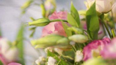 Beautiful celebratory flowers — Stock Video