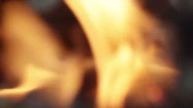 Bokeh fire — Stock Video
