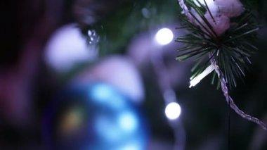 Christmas toys ball — Stock Video