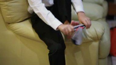 Dress socks — Stock Video
