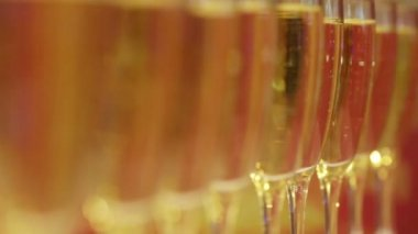 Glasses of champagne — Stock Video