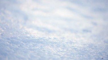 Ice crust on snow — Stock Video