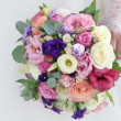 Wedding bouquet in hands bride — Stock Video #65141095