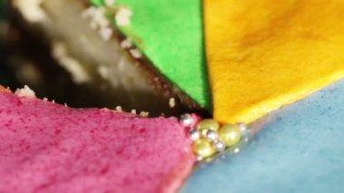 Multi-colored cake — Stock Video