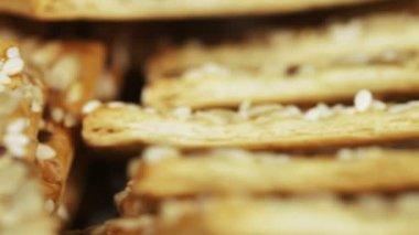 Grain biscuits — Stock Video